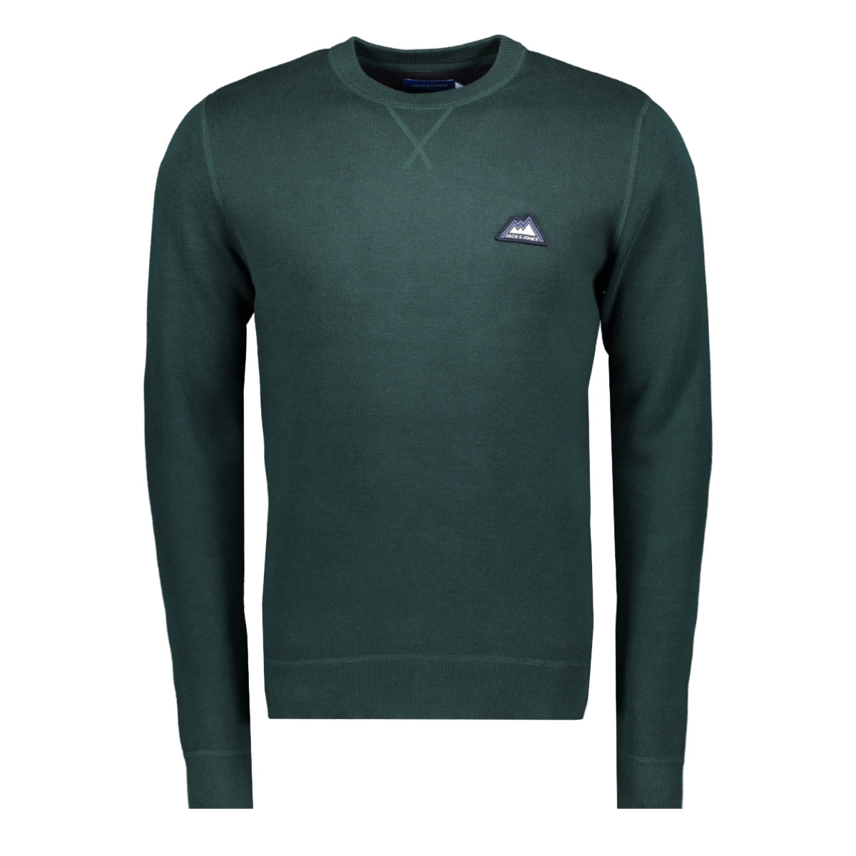 jordouble knit crew neck 12162615 jack & jones trui sea moss/knit fit