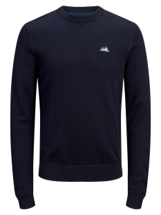 Jack & Jones Trui JORDOUBLE KNIT CREW NECK 12162615 Sky Captain/KNIT FIT