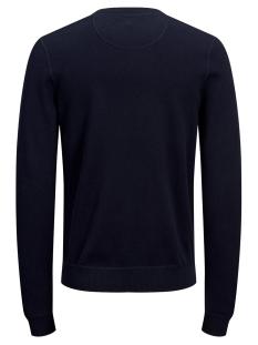 jordouble knit crew neck 12162615 jack & jones trui sky captain/knit fit