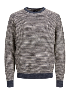Jack & Jones Trui JPRLOGAN KNIT CREW NECK 12161702 Dark Blue Denim