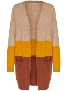 Only Vest ONLQUEEN L/S LONG CARDIGAN KNT NOOS 15158746 Indian Tan/W.GOLDEN