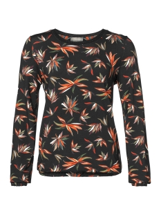 Geisha T-shirt T SHIRT AOP LEAVES LS 92834 Orange/Green/Black