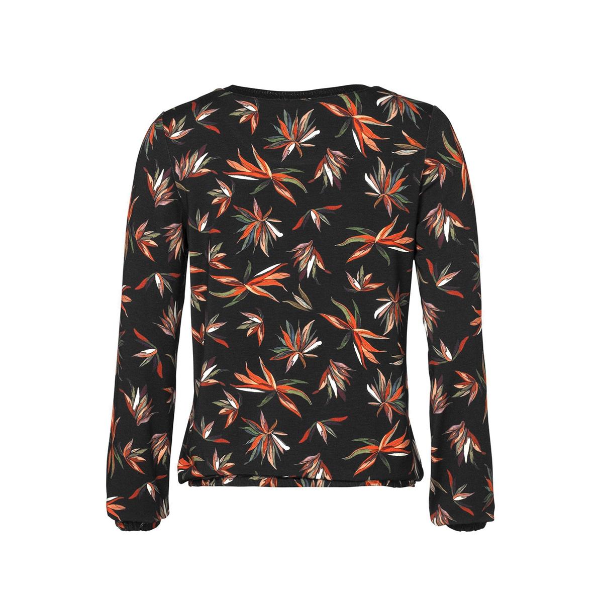 t shirt aop leaves ls 92834 geisha t-shirt orange/green/black