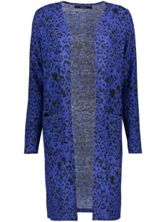 Vero Moda Vest VMLEONETTA LS OPEN COATIGAN 10226876 Black/SODALITE BLUE