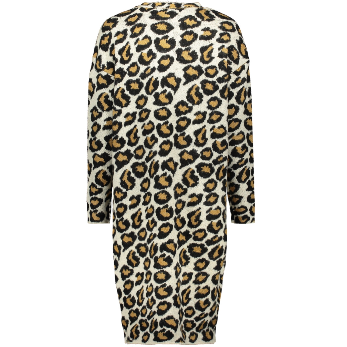 vmleon ls open coatigan 10221352 vero moda vest pristine/black w. t