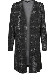 Vero Moda Vest VMERIN LS LONG CARDIGAN JRS 10222146 Black/SNOW WHITE
