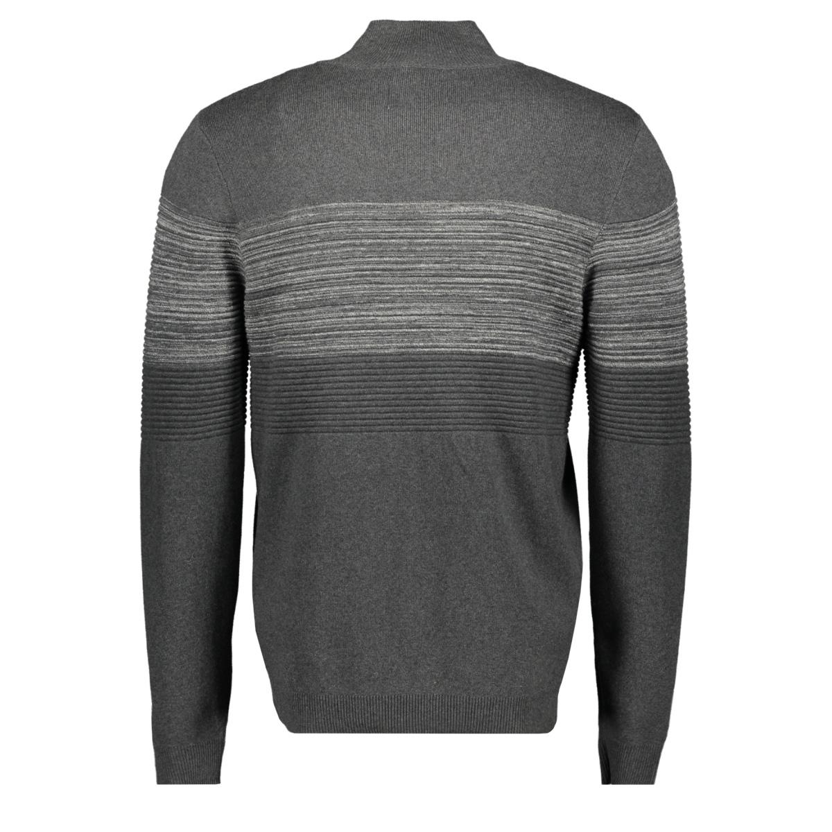 jcoshield knit cardigan 12163346 jack & jones vest dark grey melange