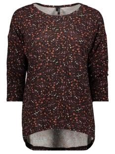 Vero Moda T-shirt VMMALENA 3/4 BLOUSE EXP COLOR 10206886 Madder Brown/LEA