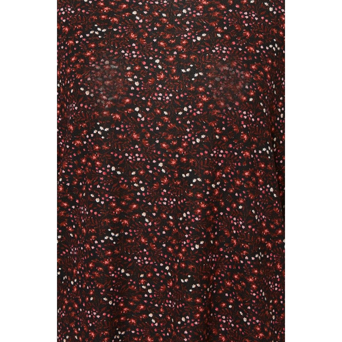 vmmalena 3/4 blouse exp color 10206886 vero moda t-shirt madder brown/lea