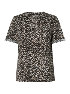Pieces T-shirt PCTIA SS TEE JIT 17096077 Black/LEOPARD