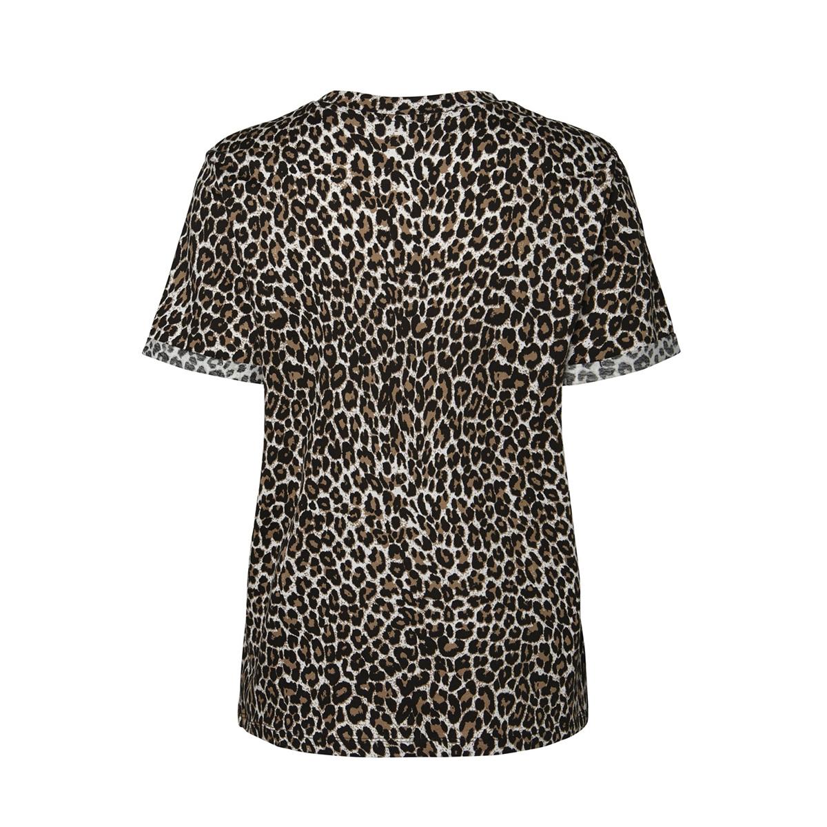 pctia ss tee jit 17096077 pieces t-shirt black/leopard