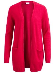 viril l/s open knit cardigan-fav 14044095 vila vest scarlet sage/melange