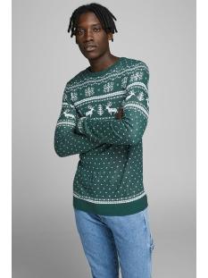 jorbells  knit crew neck. 12164355 jack & jones trui sea moss/knit fit
