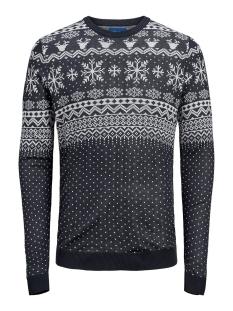 jorbells  knit crew neck. 12164355 jack & jones trui sky captain/knit fit