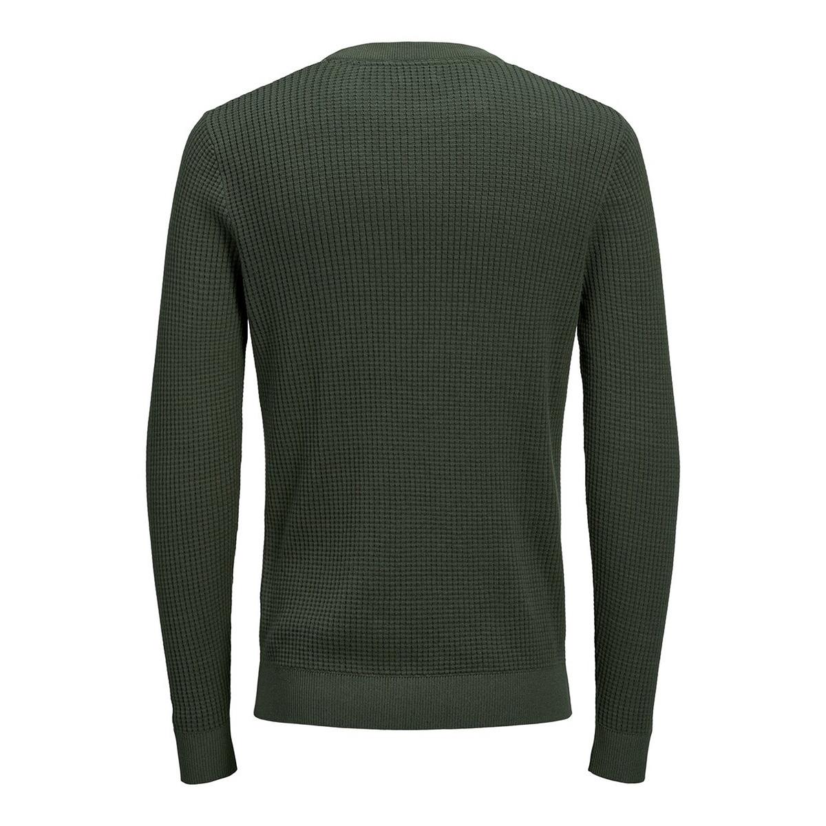 jprblake knit crew neck 12160921 jack & jones trui forest night