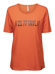 Zoso T-shirt DORSEY T-SHIRT WITH PRINT 194 ORANGE/BLACK