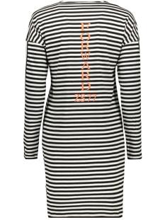 forward striped long shirt 194 zoso jurk black/off white/orange