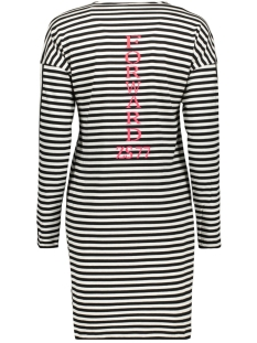 forward striped long shirt 194 zoso jurk black/off white/fuchsia