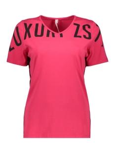 Zoso T-shirt JERRY T SHIRT PIPING PRINT 194 FUCHSIA/BLACK