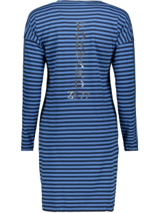 forward striped long shirt 194 zoso jurk navy/blue
