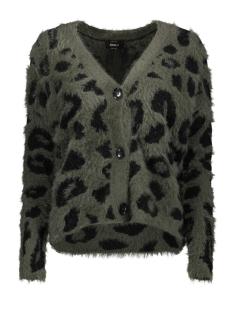 Only Vest ONLROAR L/S CARDIGAN KNT 15192169 Forest Night/W. BLACK LEO