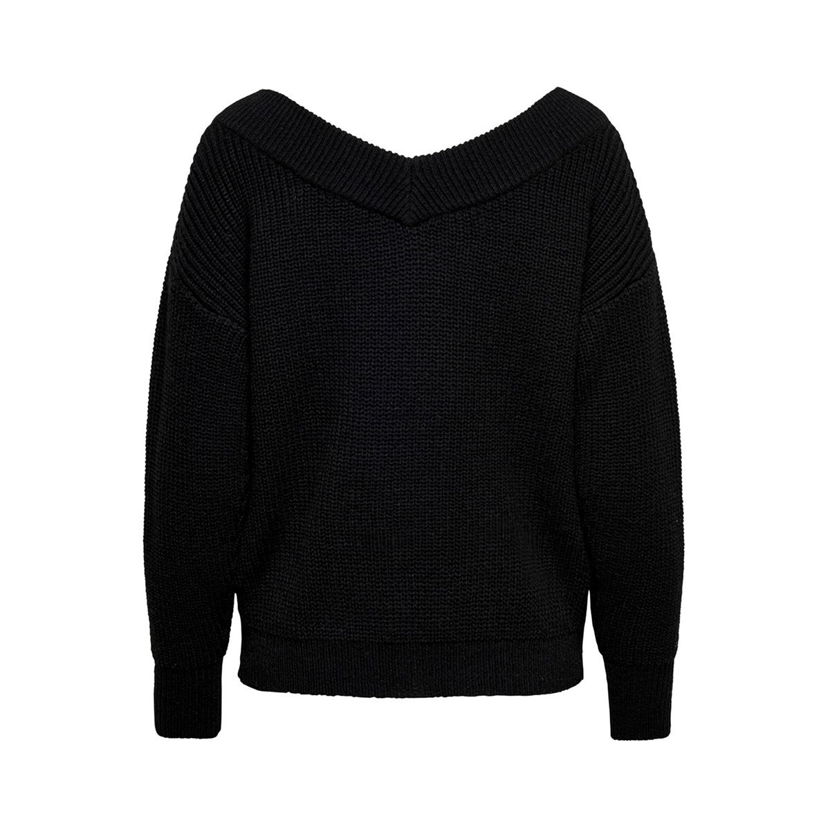 onlmelton life l/s pullover knt noos 15192289 only trui black