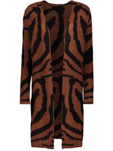 Jacqueline de Yong Vest JDYALICIA L/S JAQUARD CARDIGAN KNT 15190292 Cinnamon/W. BLACK P