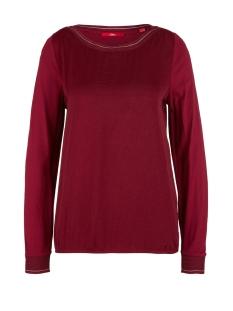 s.Oliver T-shirt LONGSLEEVE VAN EEN MATERIAALMIX 14911316796 4906