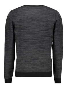 jcotonto knit crew neck 12160968 jack & jones trui black/melange k