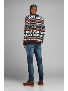 jorwinter knit crew neck 12162216 jack & jones trui tap shoe/knit fit