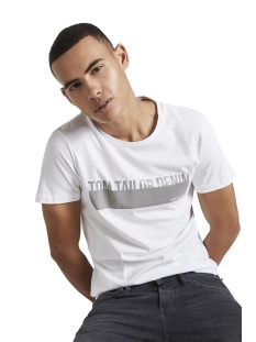 Tom Tailor T-shirt T SHIRT MET REFLECTERENDE PRINT 1015661XX12 20000