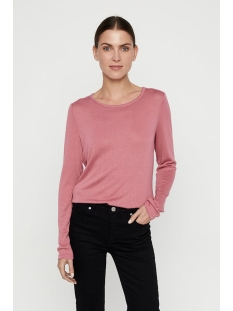 vmbirthe l/s  o-neck top jrs bf 10220742 vero moda trui mesa rose