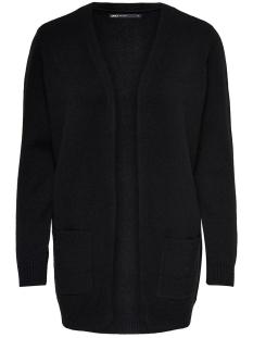 Only Vest ONLLESLY L/S OPEN CARDIGAN KNT NOOS 15174274 Black