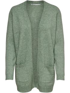 Only Vest ONLLESLY L/S OPEN CARDIGAN KNT NOOS 15174274 Basil/MELANGE