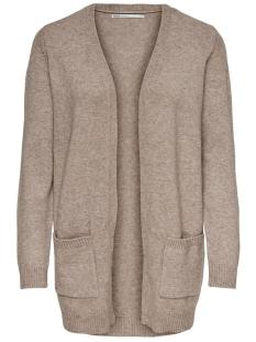 onllesly l/s open cardigan knt noos 15174274 only vest beige/w. melange