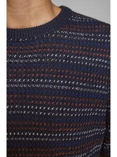 jorflow knit crew neck. 12162644 jack & jones trui sky captain/stripe kni