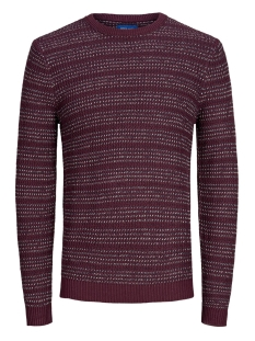 Jack & Jones Trui JORFLOW KNIT CREW NECK. 12162644 Port Royale/STRIPE KNI