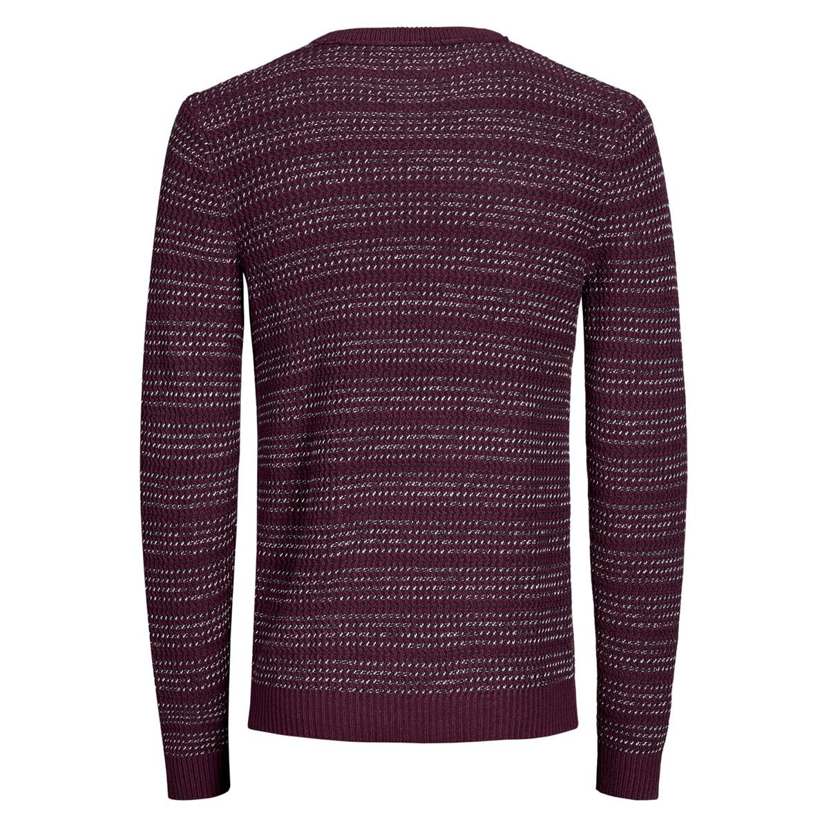 jorflow knit crew neck. 12162644 jack & jones trui port royale/stripe kni