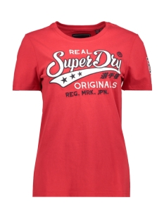 real original chainstitch entry tee w1000070a superdry t-shirt chilli pepper