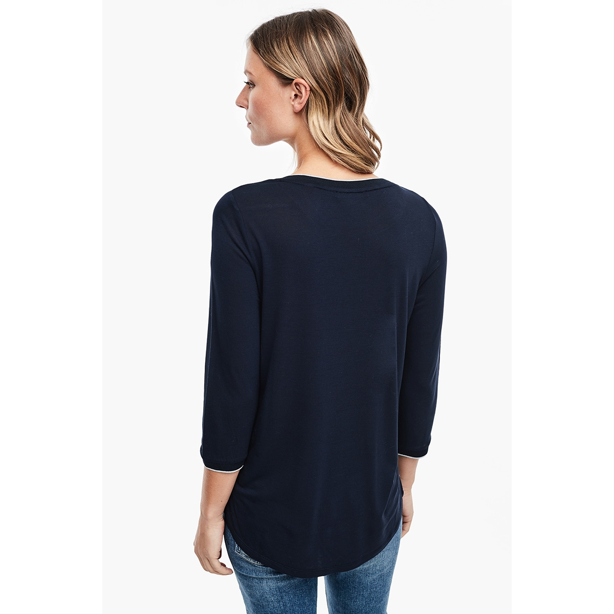 t shirt met driekwart mouw 05912395951 s.oliver t-shirt 59d0