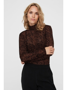 Vero Moda T-shirt VMFIFI LS HIGH NECK TOP JRS  KI 10222821 Tortoise Shell/FIFI AOP