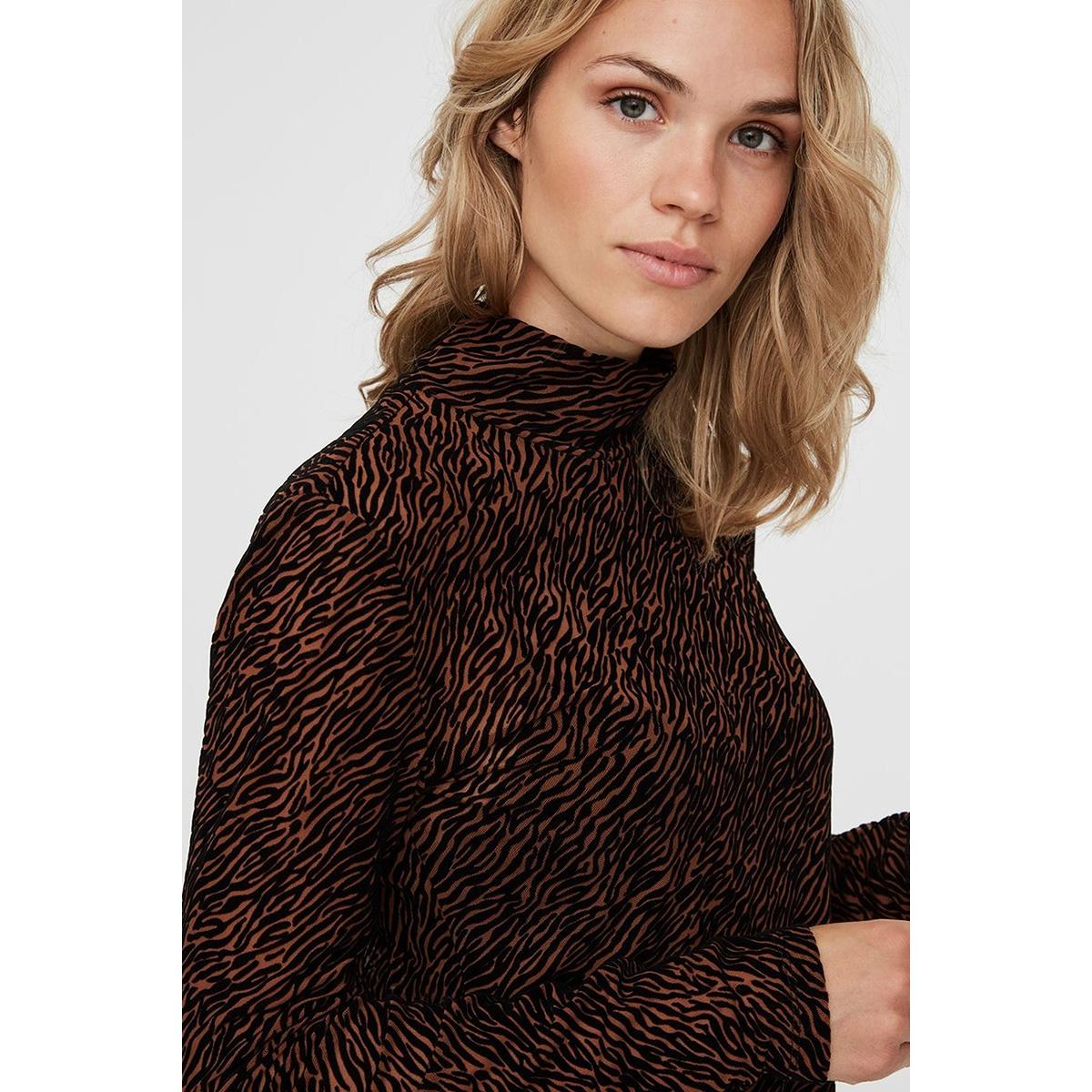 vmfifi ls high neck top jrs  ki 10222821 vero moda t-shirt tortoise shell/fifi aop