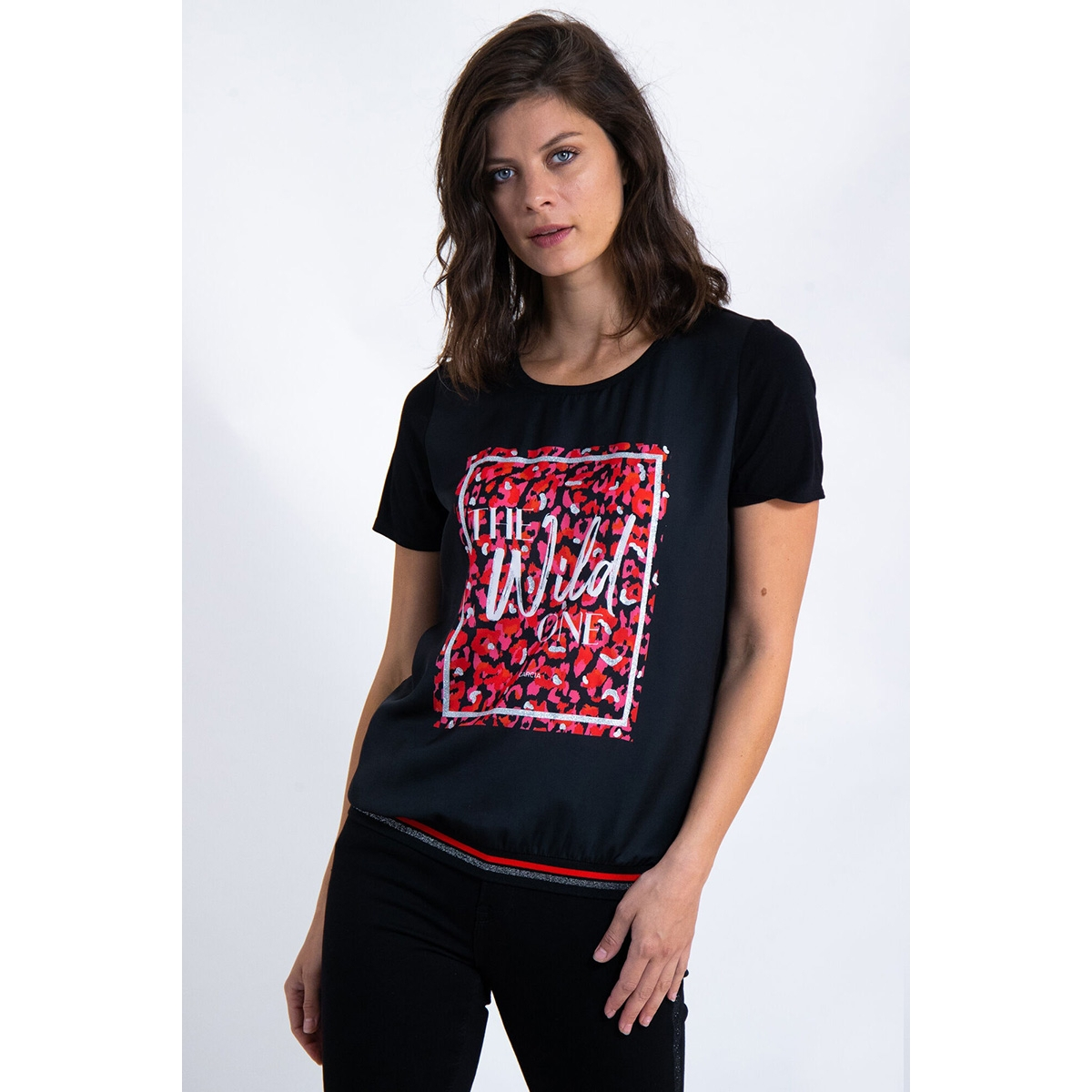 t shirt met print l90003 garcia t-shirt 60 black