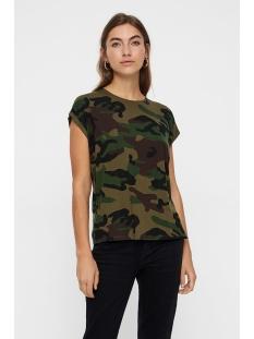 Vero Moda T-shirt VMAVA PLAIN SS TOP MULTI AOP GA 10214302 Ivy Green/CAMO
