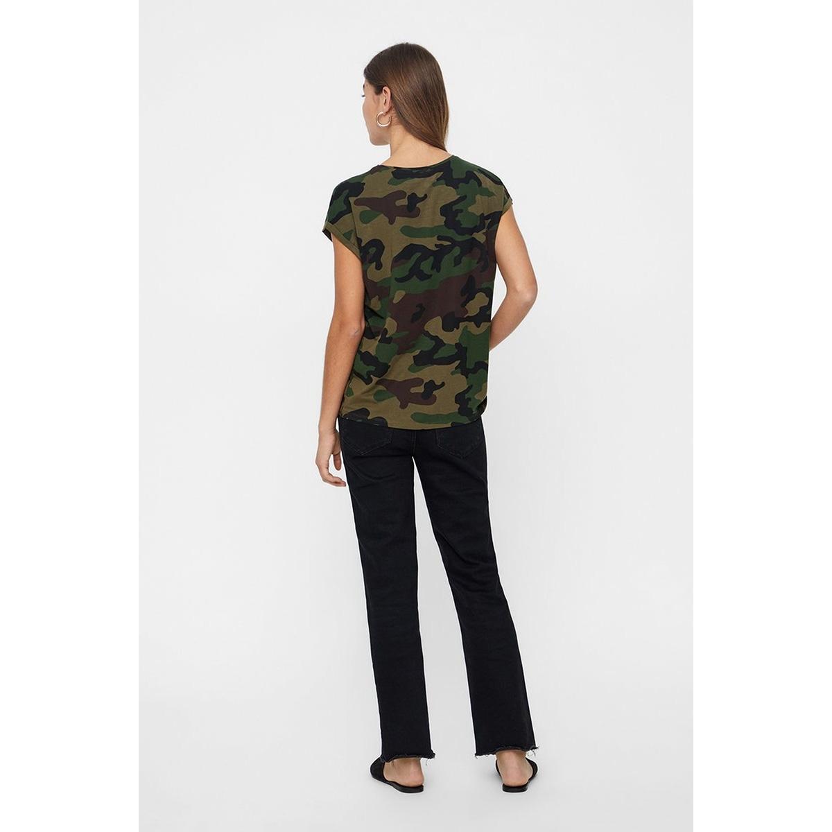 vmava plain ss top multi aop ga 10214302 vero moda t-shirt ivy green/camo