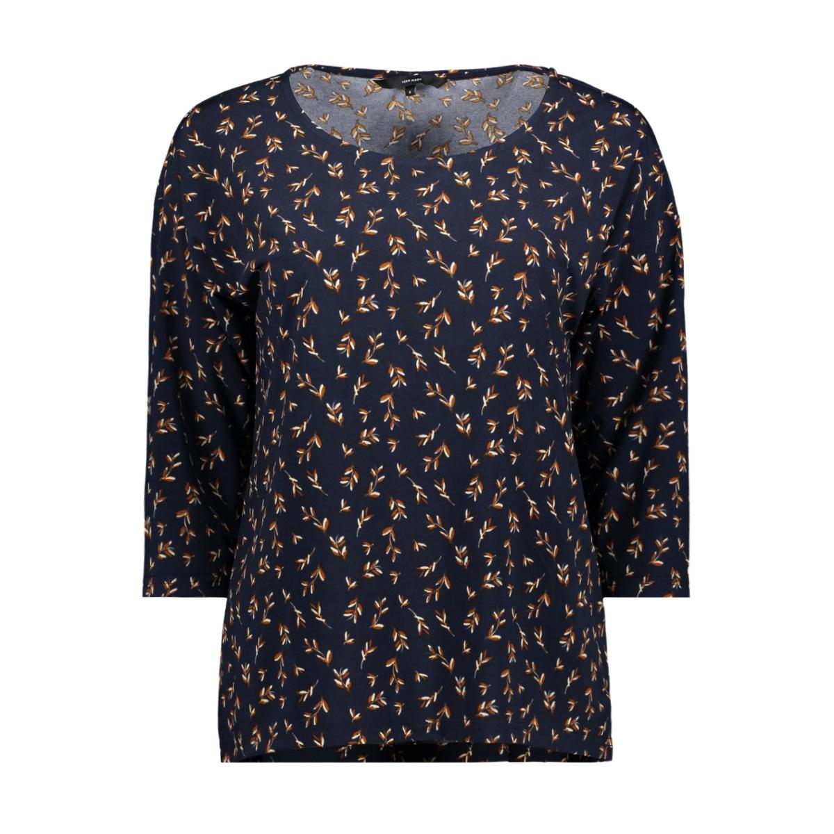 vmtoka 3/4 top jrs 10225629 vero moda t-shirt night sky/aop toka