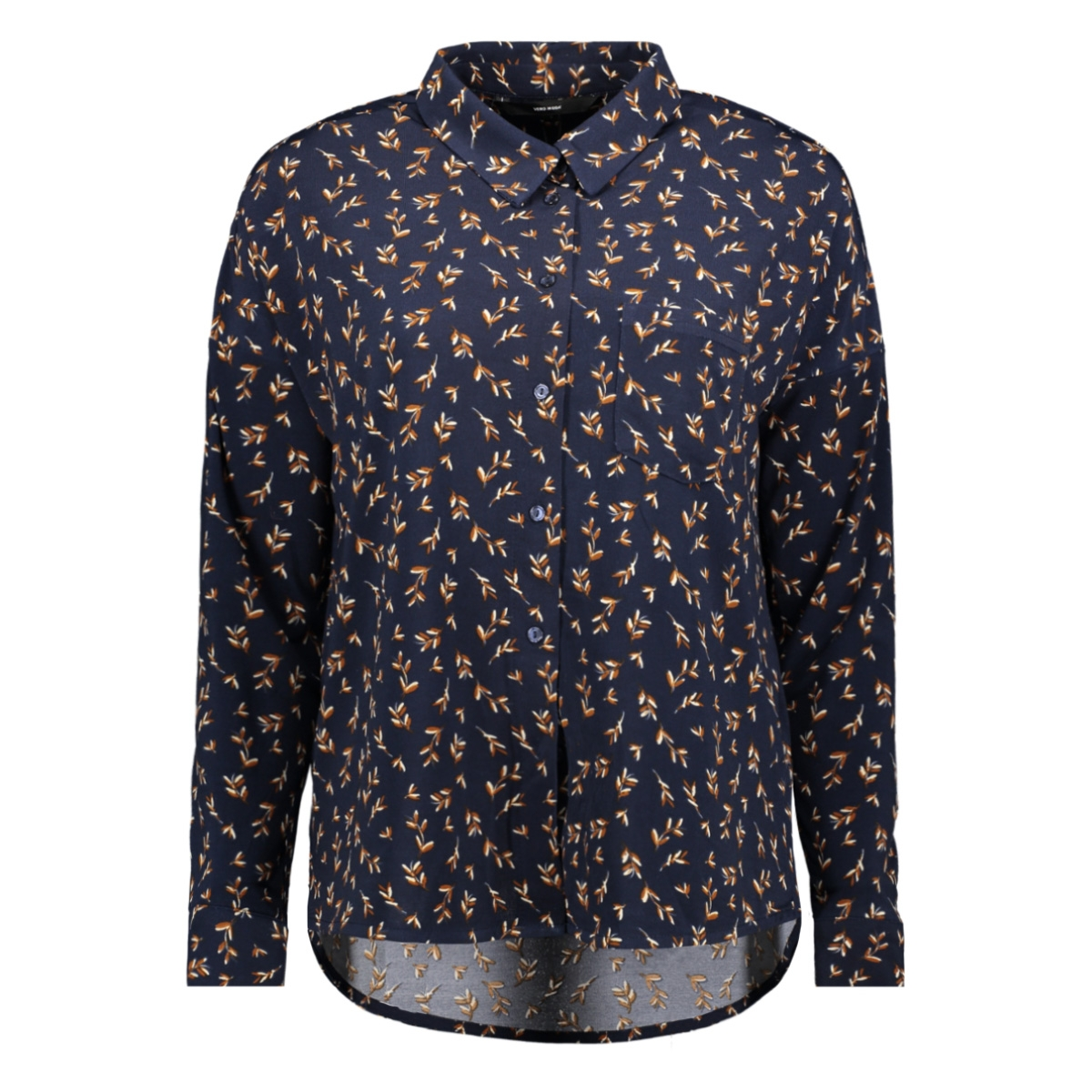 vmtoka ls wide shirt jrs 10225622 vero moda blouse night sky/aop toka