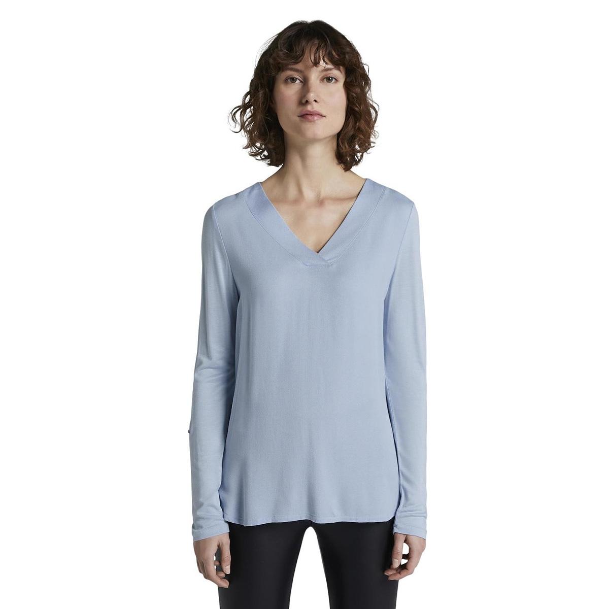 blouse shirt met v hals 1016125xx70 tom tailor t-shirt 11270