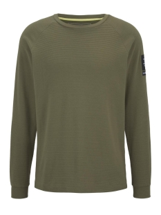 Tom Tailor T-shirt LANGE MOUWEN SHIRT MET STRUCTUUR 1015945XX12 21041