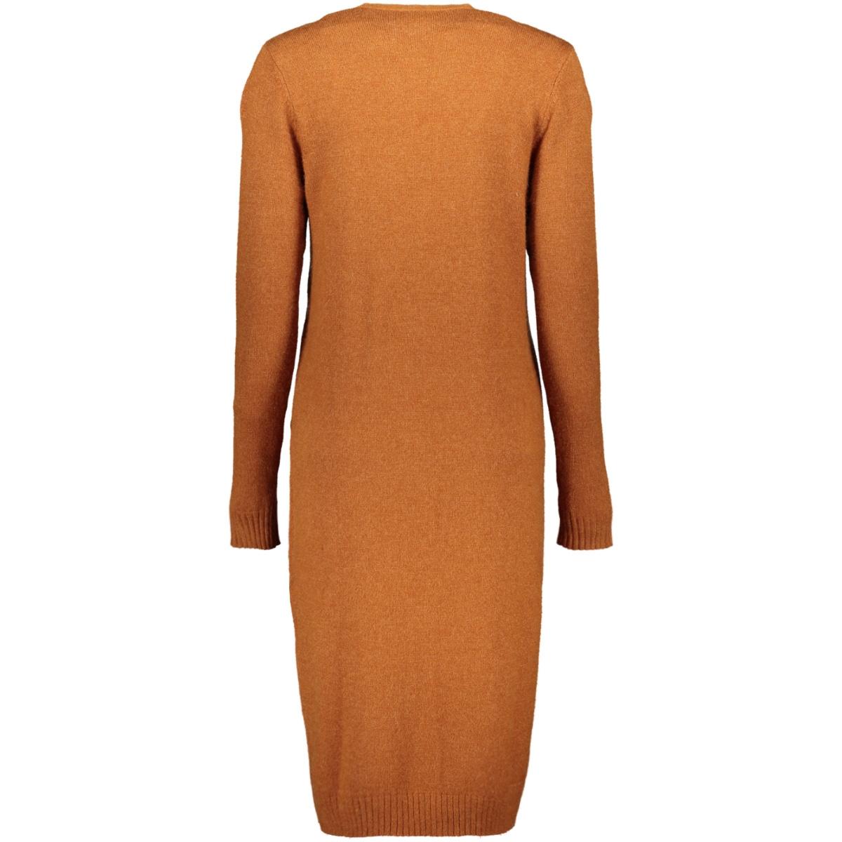 viril l/s long knit cardigan-fav 14043282 vila vest caramel cafe/melange